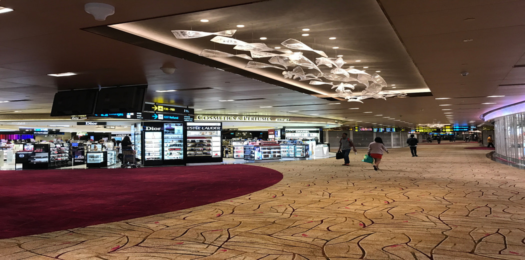 SINGAPORE CHANGI AIRPORT, DEPARTURE TRANSIT LOUNGE TERMINAL 2